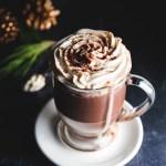 Chocolate Liqueur Hot Chocolate with Baileys Cream