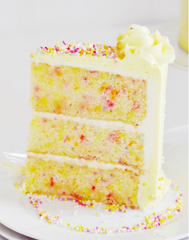 Vanilla Confetti Cake with Whipped Vanilla Buttercream