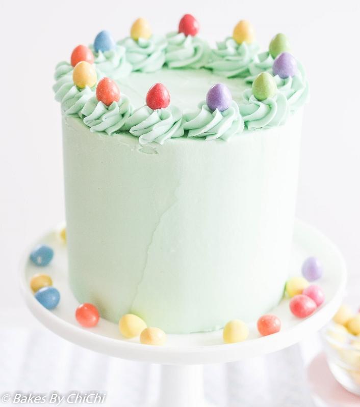 Easter Egg Vanilla Pinata Cake