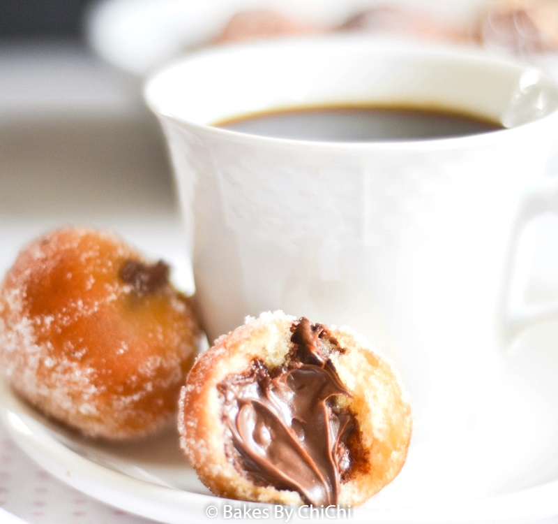 Nutella filled Sugared Yeast Doughnuts
