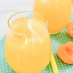 Sparkling Peach Pear Apricot Lemonade