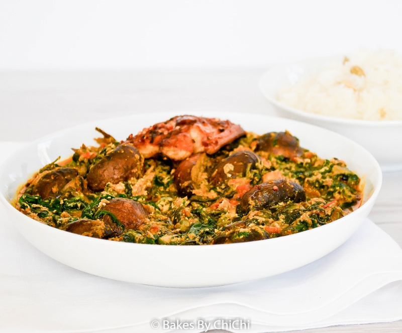 Spinach and Mushroom Egusi Stew