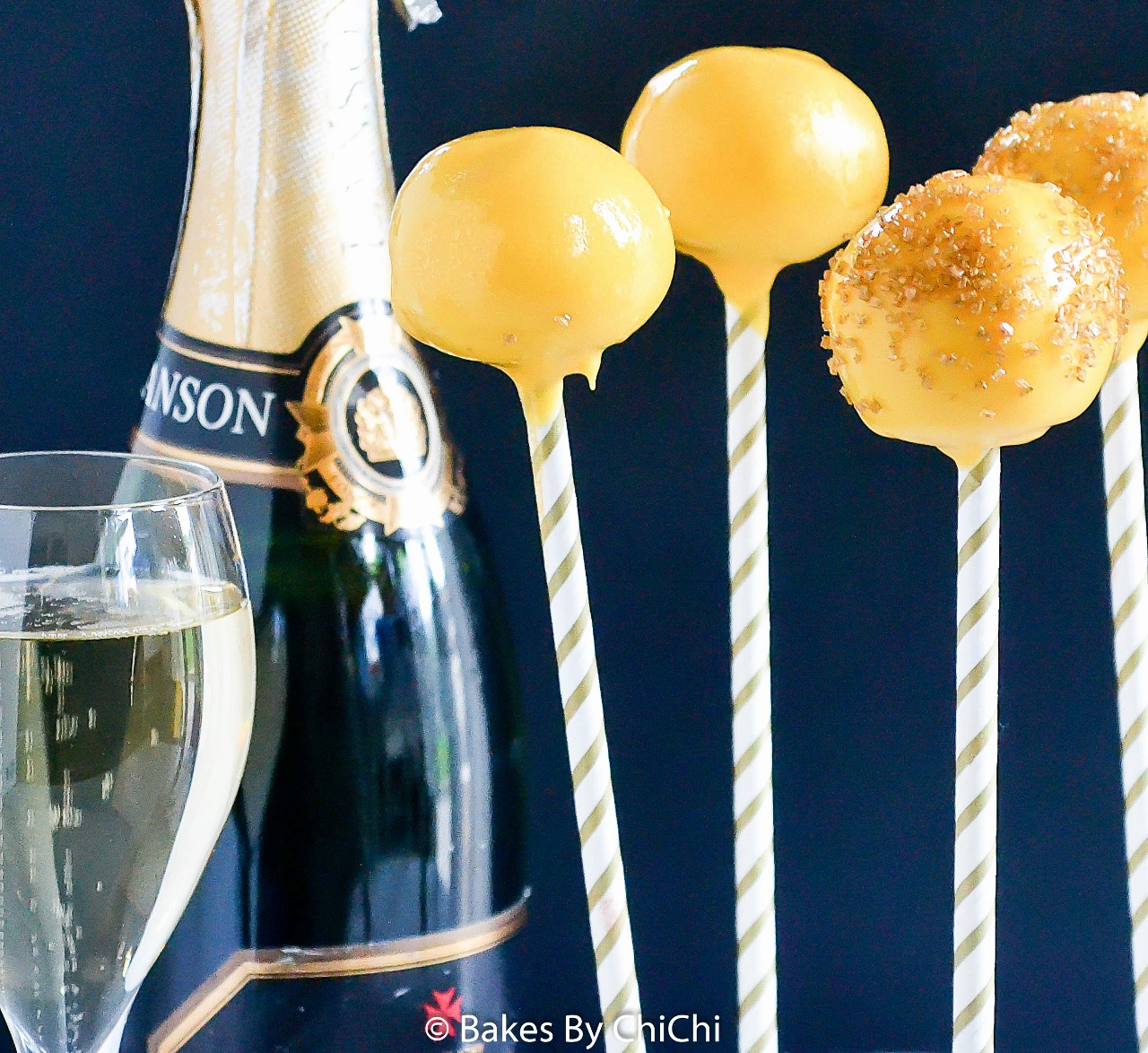 Dazzling New Year's Cake Pop