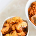 Jambalaya Jollof with Fried Plantain