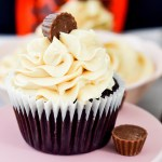 Peanut Buttercream frosted Chocolate Peanut Butter Cupcakes