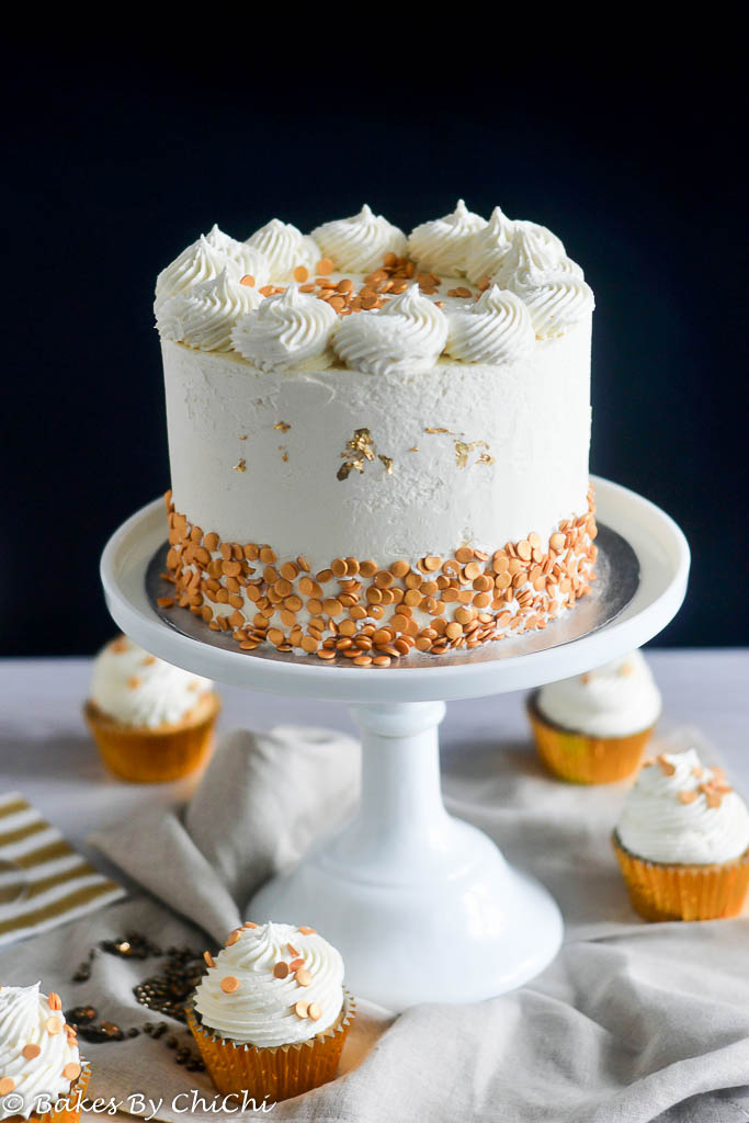 Buttercream Frosting On Vanilla Cake