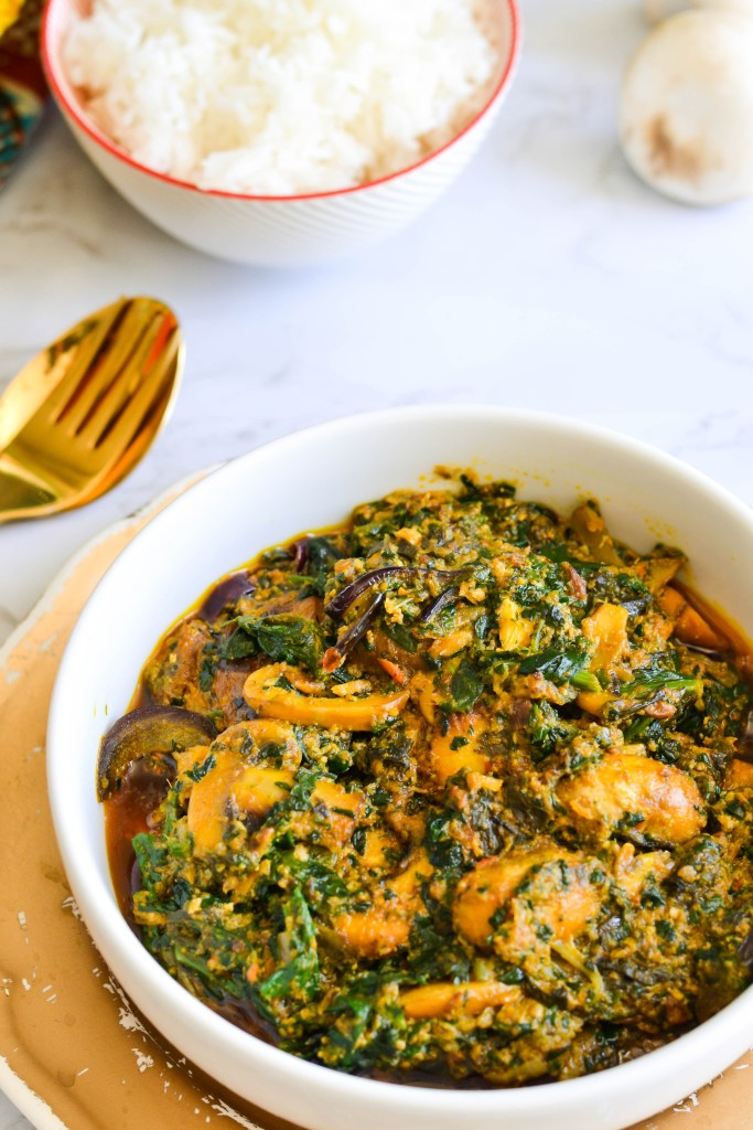 Spinach And Mushroom Egusi Stew Bakes By Chichi