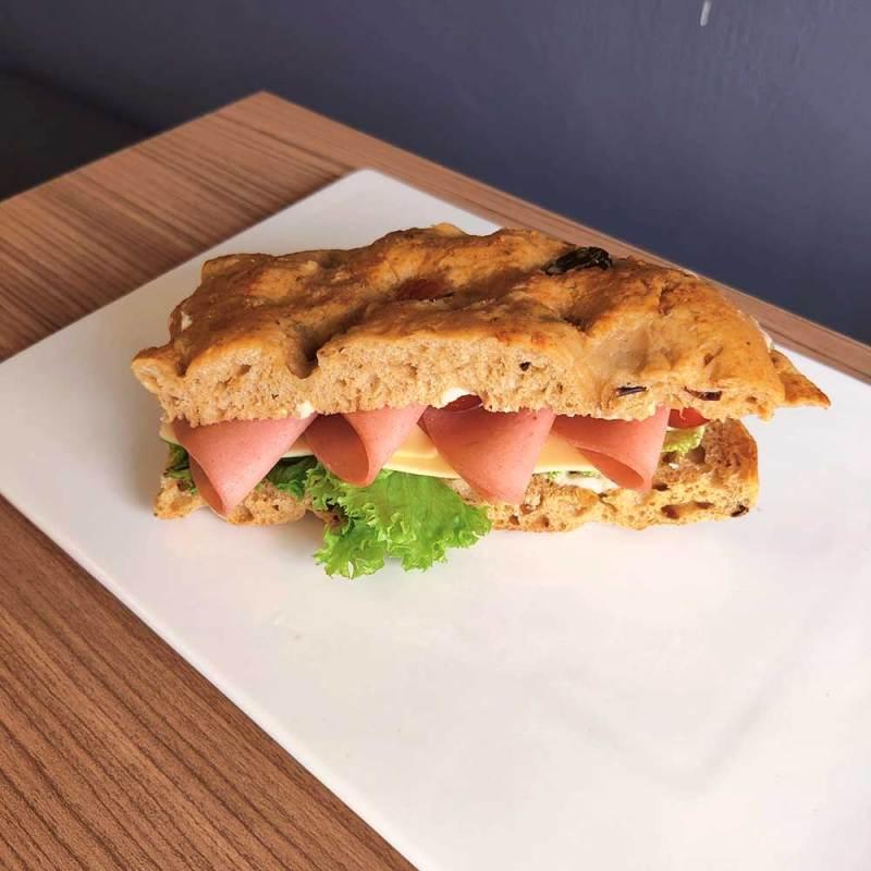 Ham and Cheese Focaccia Bread