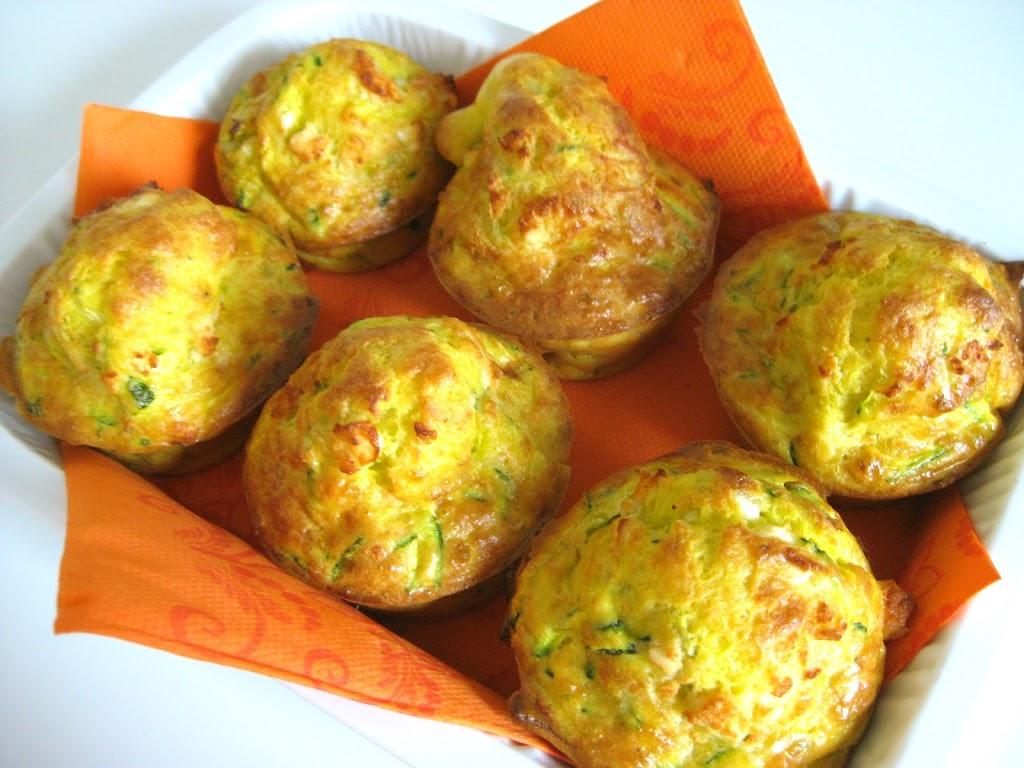 Muffin salati zucchina e feta