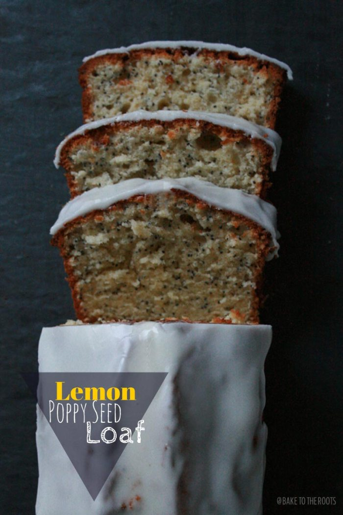 Lemon Poppy Seed Loaf with Lemon Glaze | Bake to the roots