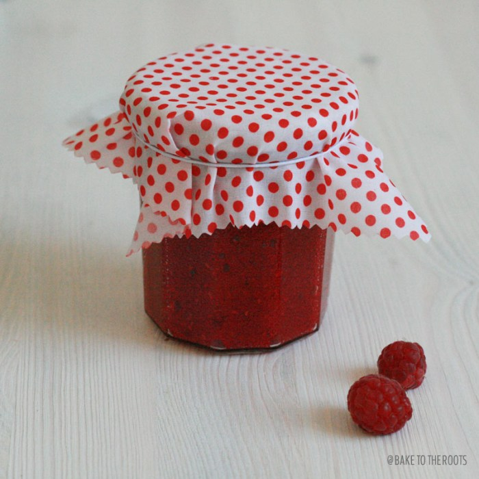 Homemade Raspberry Vanilla Jam | Bake to the roots