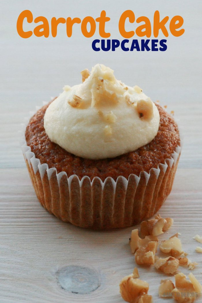 Carrot Cake Cupcakes | Bake to the roots
