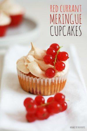 Red Currant Meringue Cupcakes
