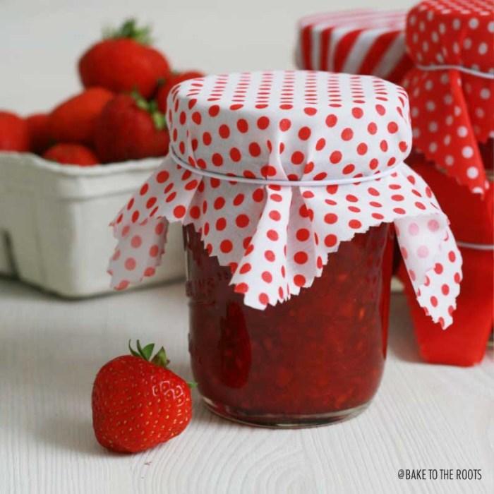 Homemade Strawberry Vanilla Jam | Bake to the roots
