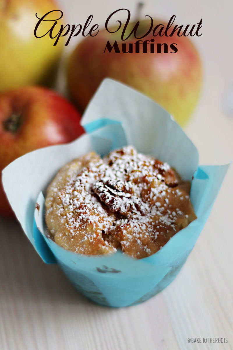 apfel walnuss muffins bake to the roots. Black Bedroom Furniture Sets. Home Design Ideas