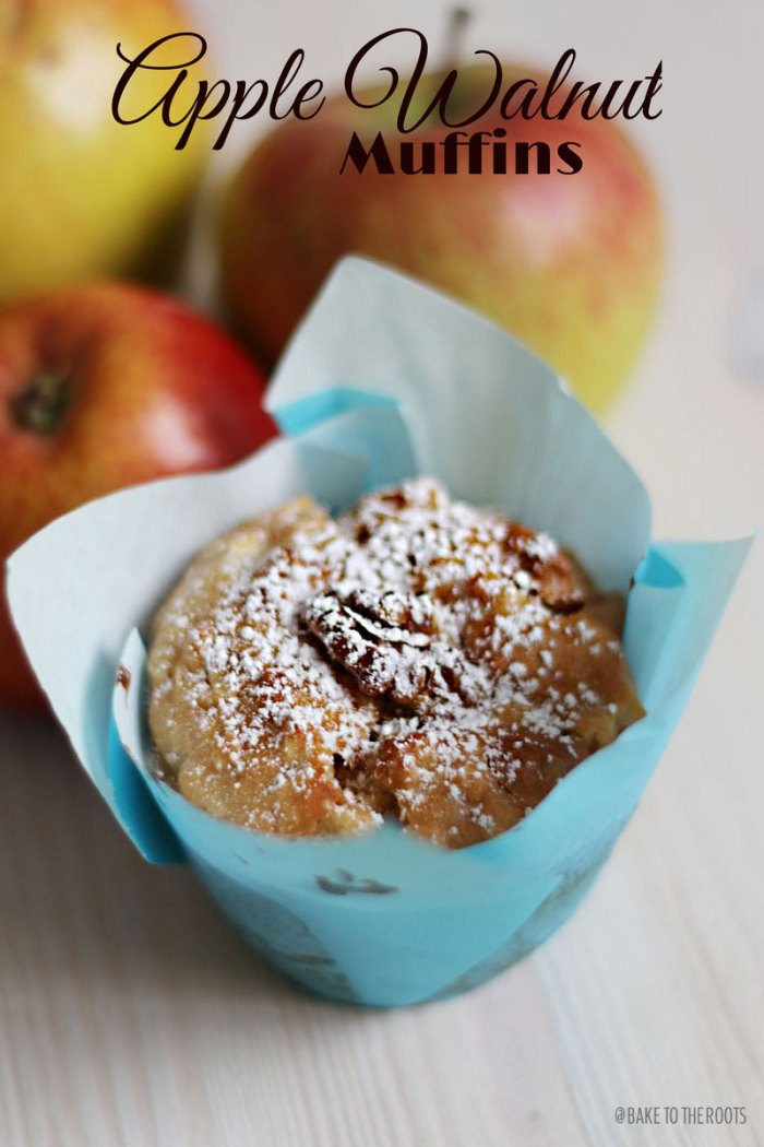 Apple Walnut Muffins | Bake to the roots