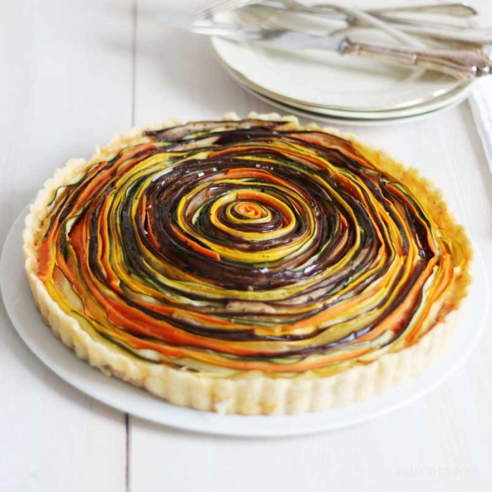 Vegetable Spiral Tart | Bake to the roots