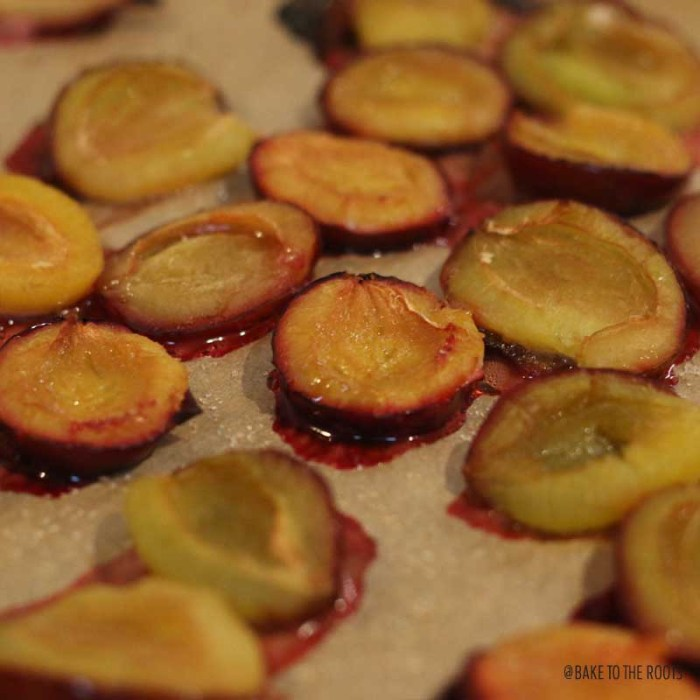 Roasted Plum Hazelnut Streusel Muffins   Bake to the roots