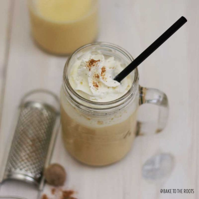 Homemade Eggnog | Bake to the roots