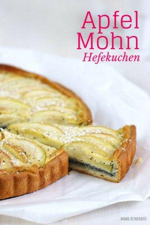 Apfel Mohn Hefekuchen