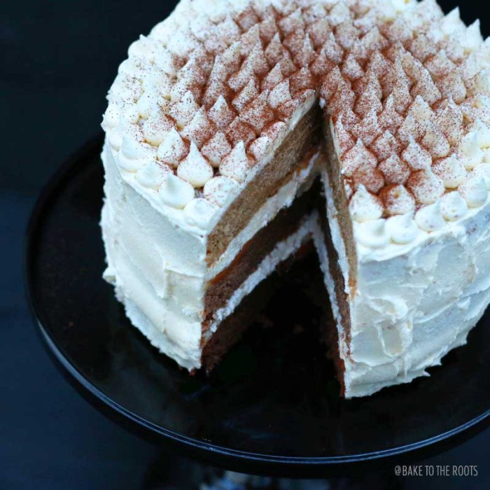 Espresso Cake with Caramel and White Chocolate Buttercream | Bake to the roots