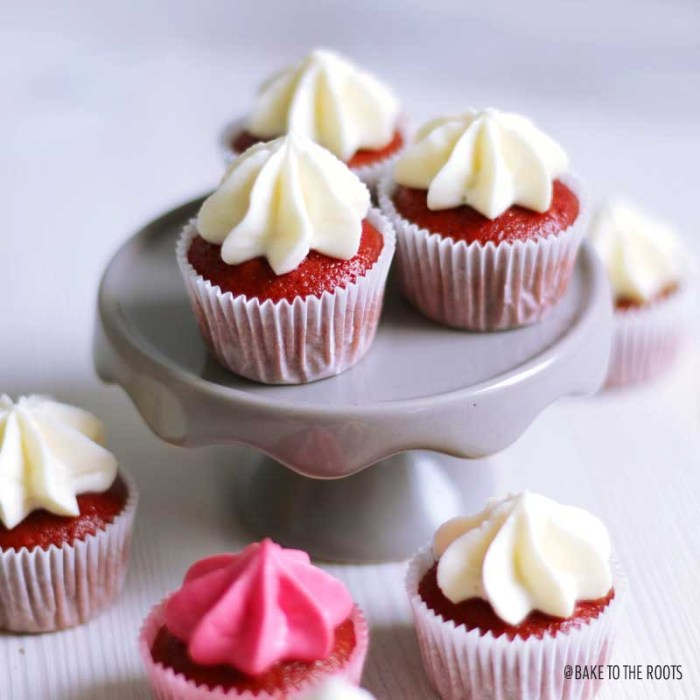 Valentine's Day Mini Beet Root Red Velvet Cupcakes | Bake to the roots