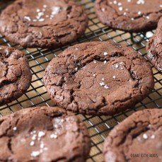 Double Chocolate Salted Caramel Cookies | Bake to the roots