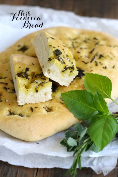 Herb Focaccia Bread | Bake to the roots