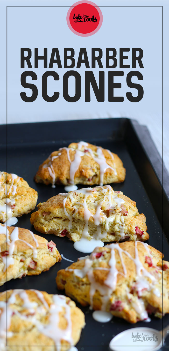 Rhabarber Vanille Scones | Bake to the roots