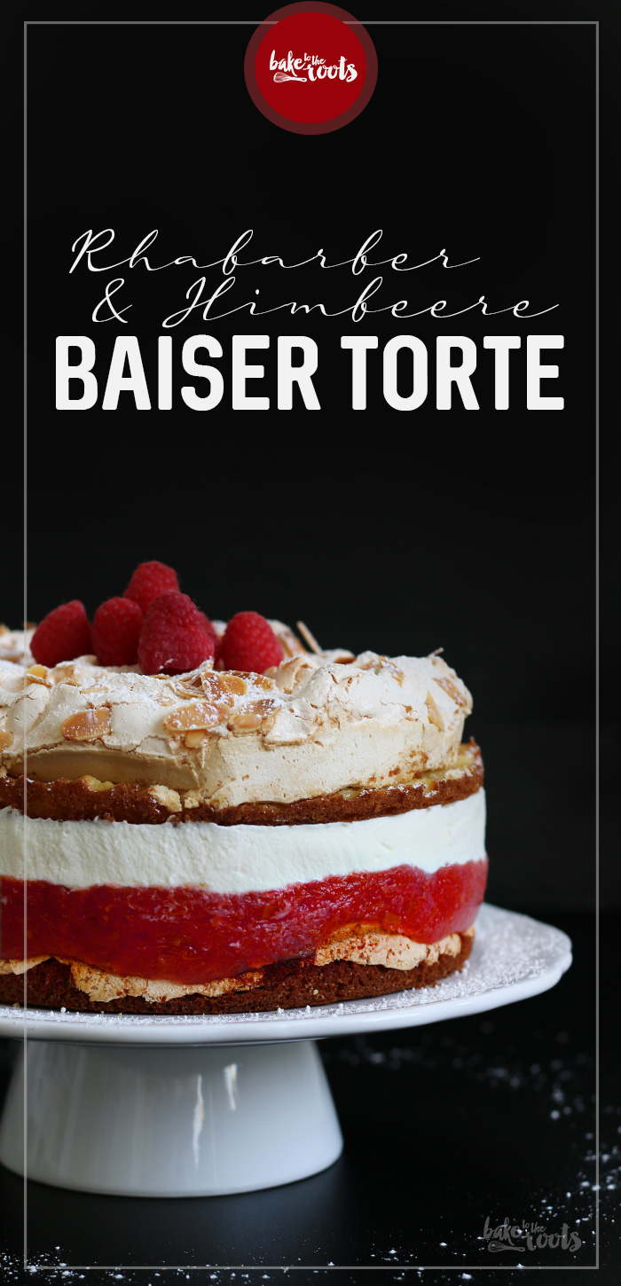 Rhabarber Himbeere Baiser Torte | Bake to the roots