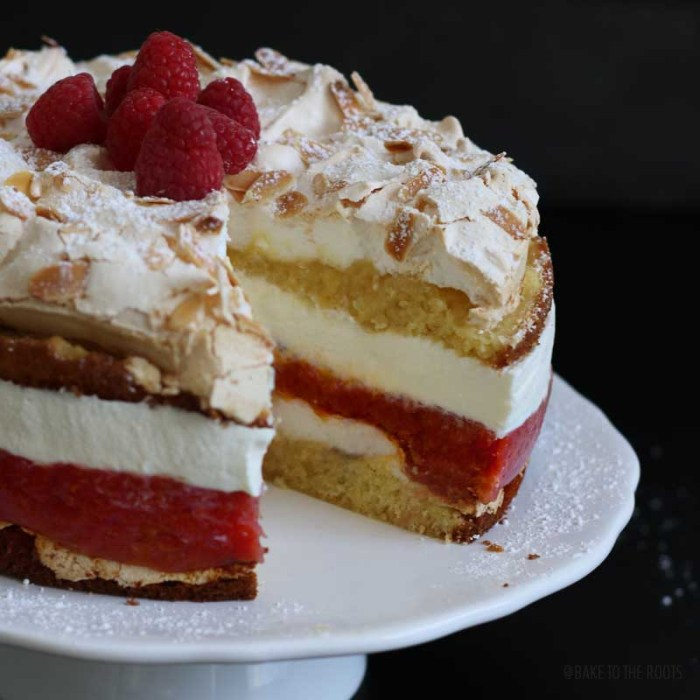 Rhubarb Cake With Whipping Cream