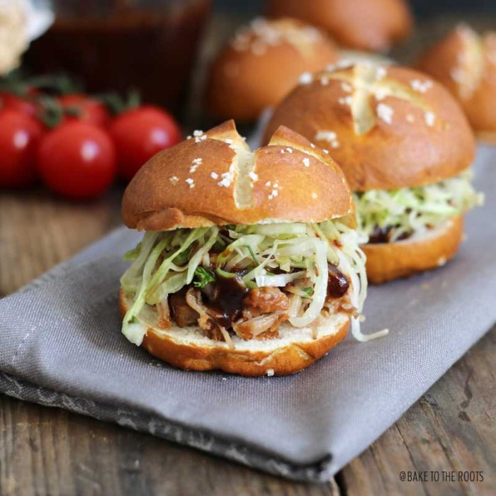 Pulled Pork Sliders with Krautsalat   Bake to the roots