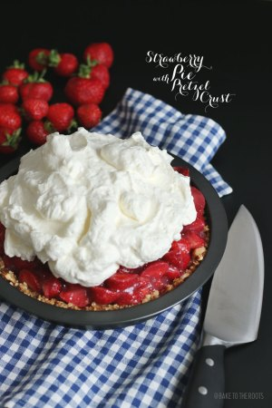Strawberry Pie with Pretzel Crust