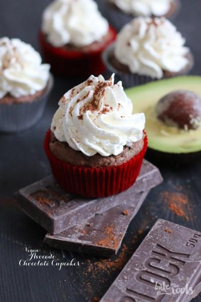 Vegan Avocado Chocolate Cupcakes with Vegan German Buttercream   Bake to the roots
