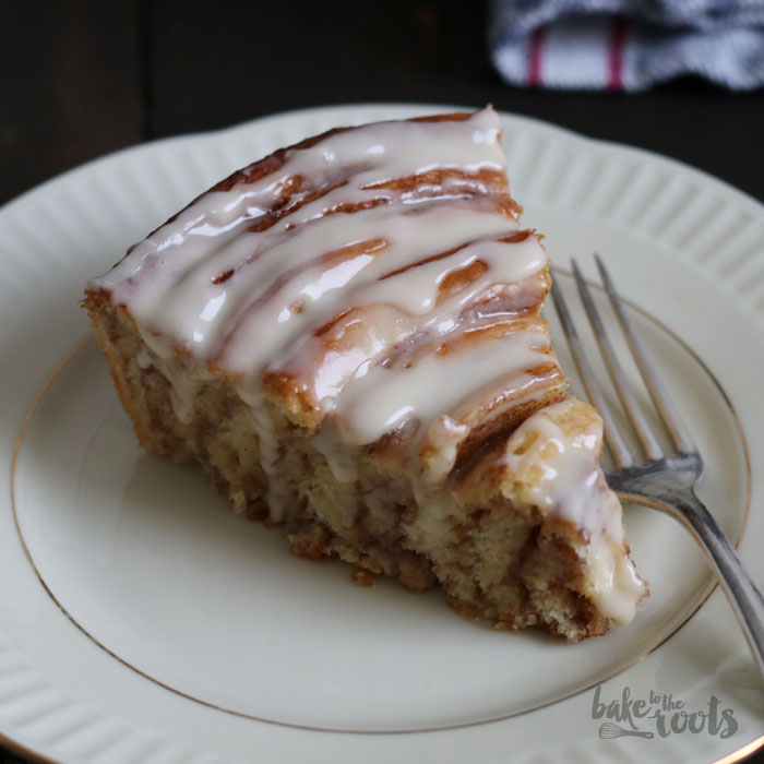 Cinnamon Roll Cake | Bake to the roots
