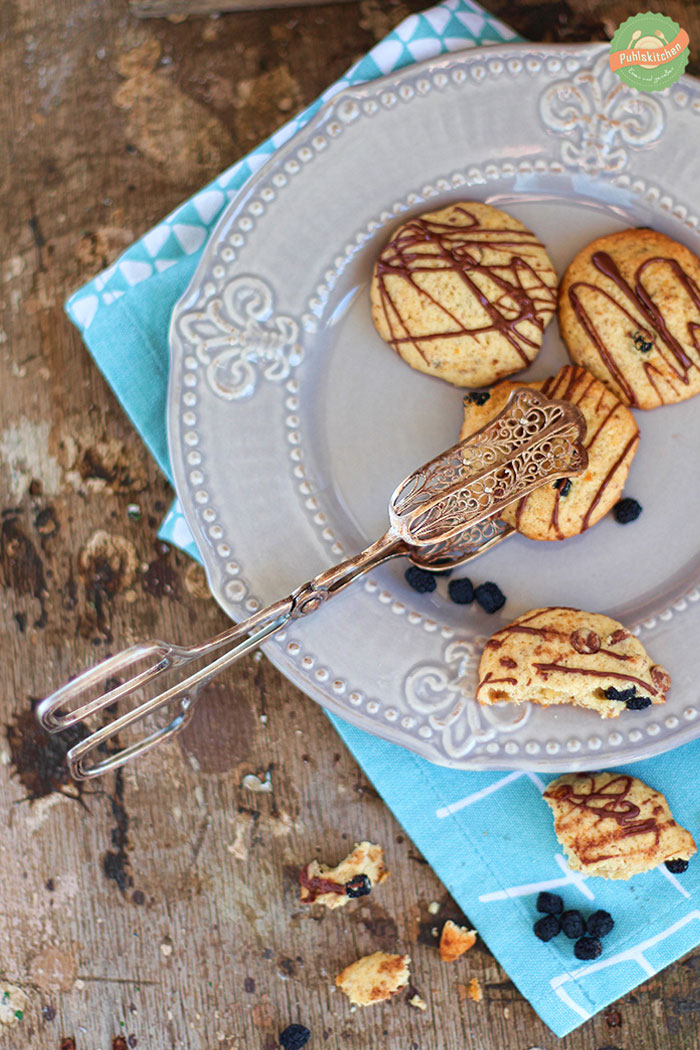 """Chocolate Hazelnut Cookies with Chokeberries 