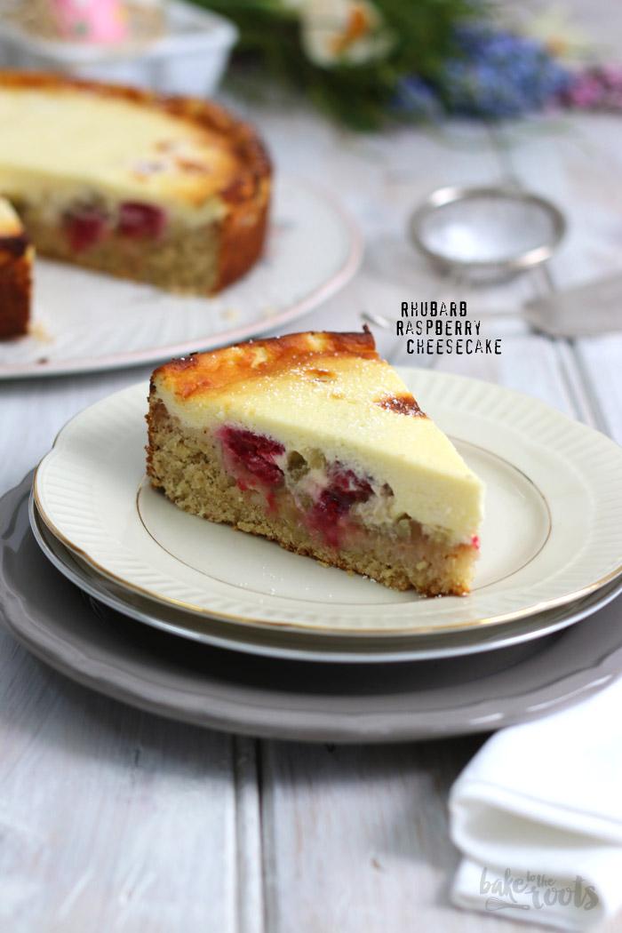 Rhubarb Raspberry Cheesecake | Bake to the roots
