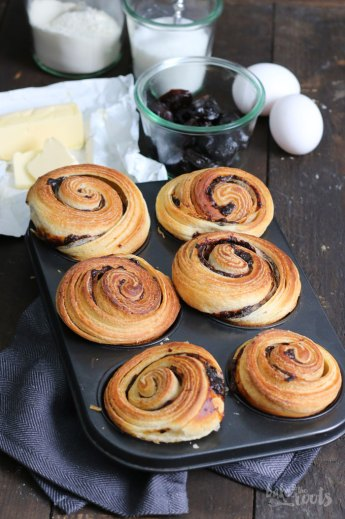 Cruffins with Prunes   Bake to the roots