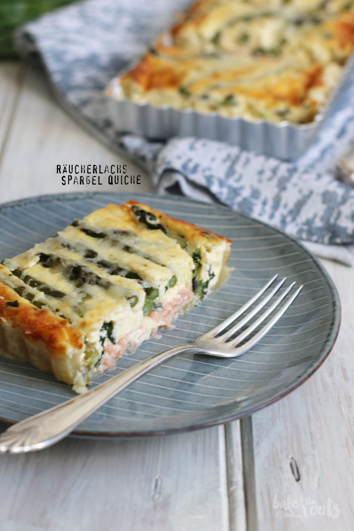 Quiche mit Räucherlachs und grünem Spargel | Bake to the roots