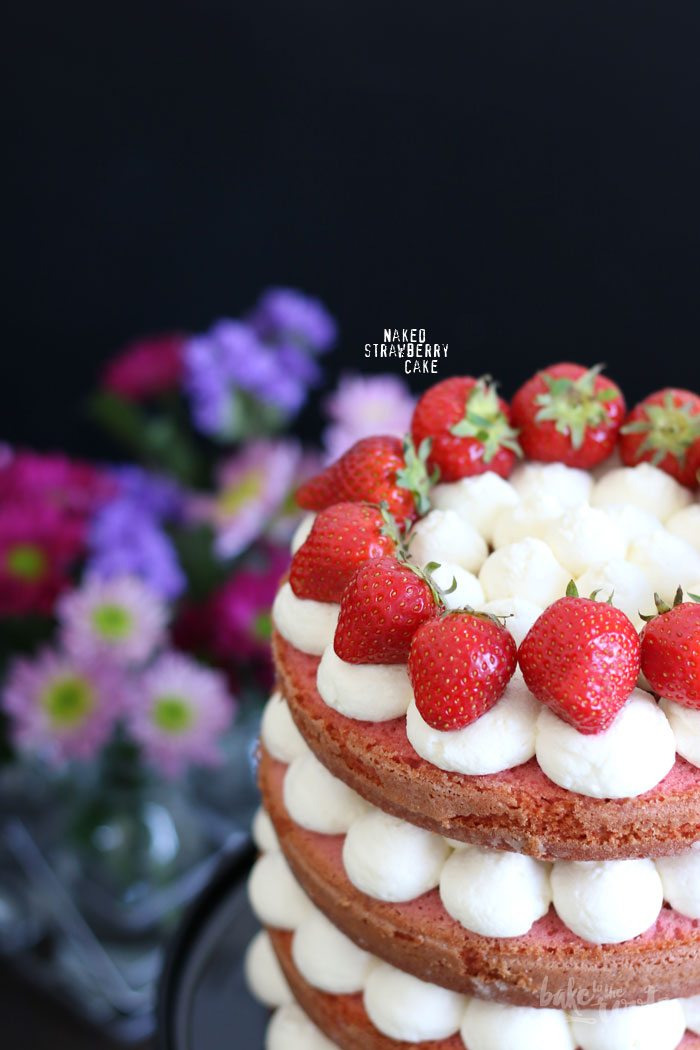 Naked Strawberry Cake for Mothers Day - Bake to the roots