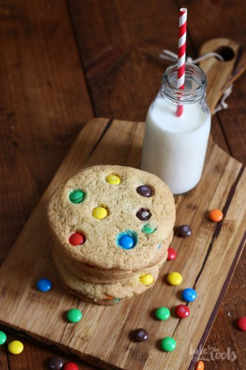 Giant M&M Cookies   Bake to the roots