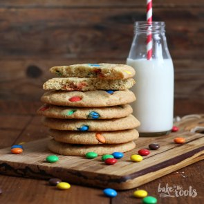 Giant M&M Cookies | Bake to the roots
