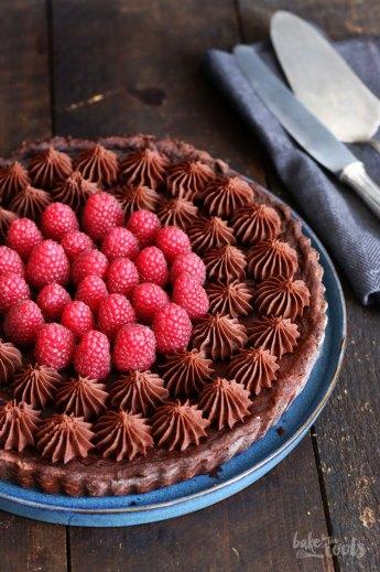 Raspberry Chocolate Tart | Bake to the roots