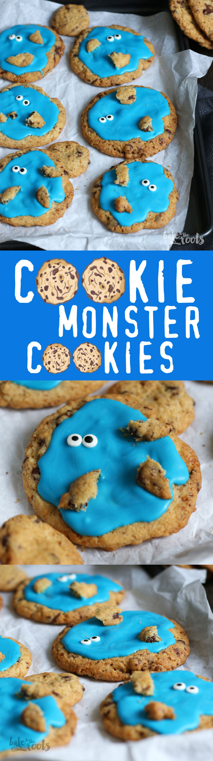 Funny little Cookies - Cookie Monster would love to have them I suppose | Bake to the roots