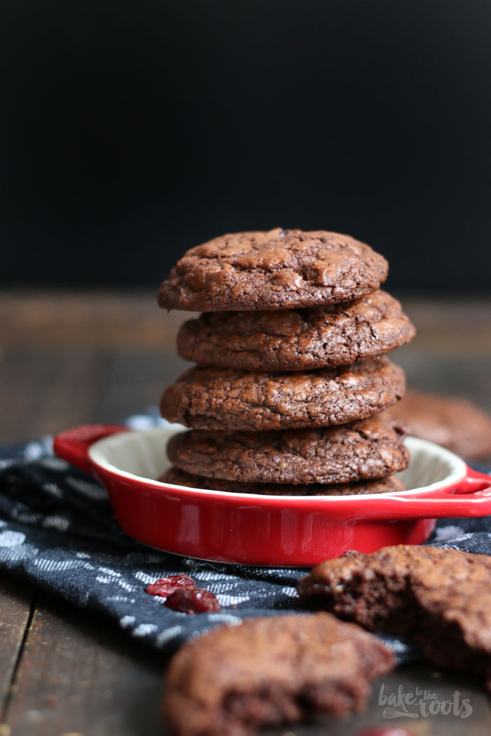 Double Chocolate Cranberry Cookies | Bake to the roots