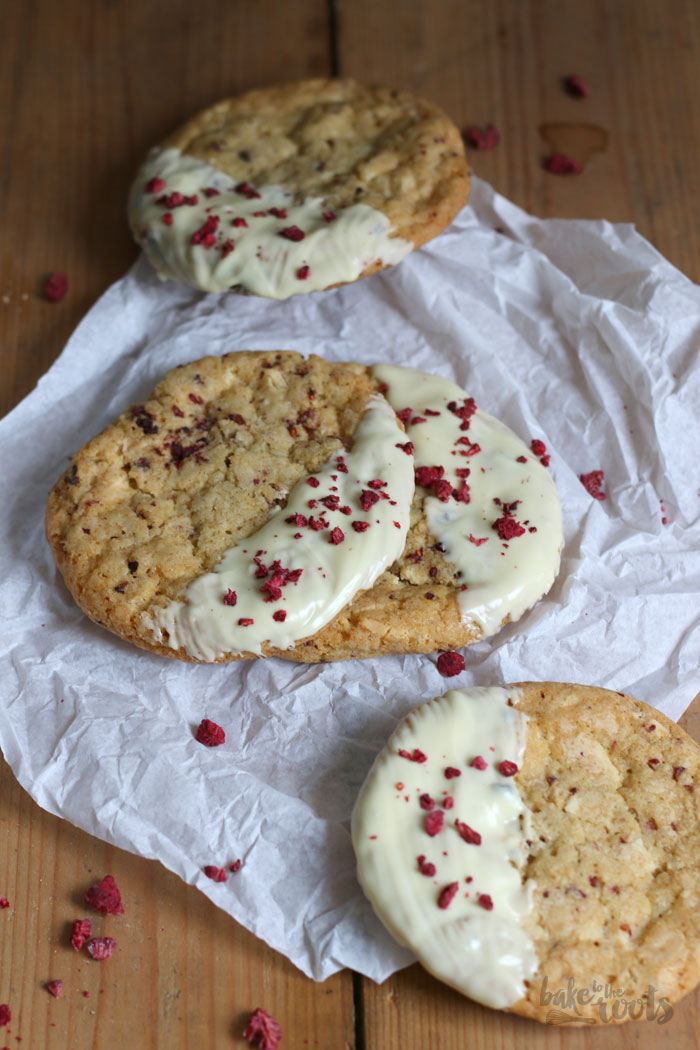 Raspberry White Chocolate Cookies | Bake to the roots