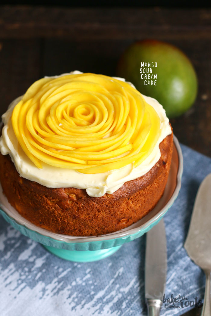 Mango Sour Cream Cake | Bake to the roots