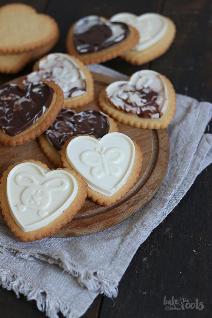 Butterkekse mit Schokolade | Bake to the roots