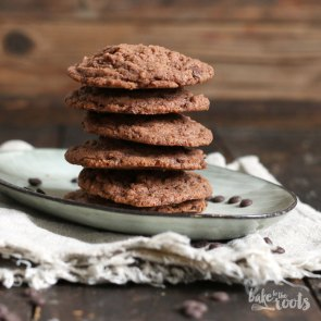 Double Chocolate Chip Cookies | Bake to the roots