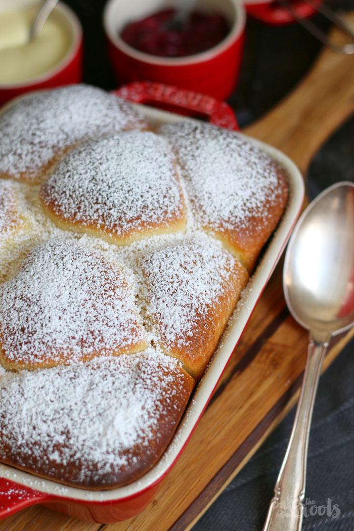Buchten mit Rhabarber Ingwer Kompott   Bake to the roots